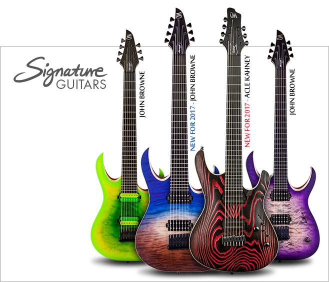 Mayones Signature Guitars - John Browne & Acle Kahney