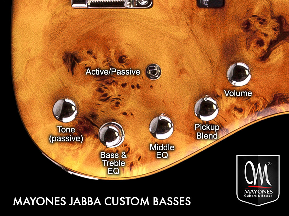 Jabba Series Basses Control Layout
