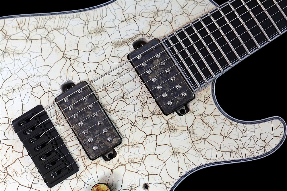 Mayones Regius 7 White Angel Satin finish - Master Builder Collection 2011 - Bare Knuckle Aftermath pickups