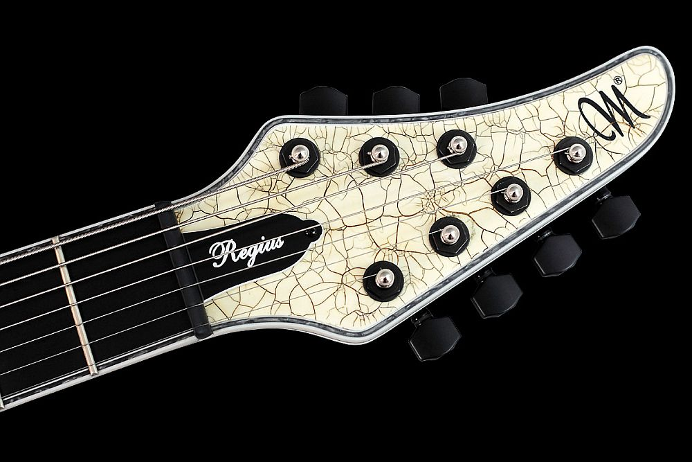 Mayones Regius 7 White Angel Satin finish - Master Builder Collection 2011 - head