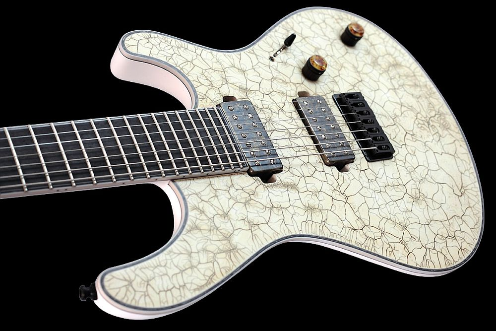 Mayones Regius 7 White Angel Satin finish - Master Builder Collection 2011 - slim contoured body