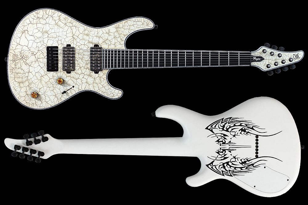 Mayones Regius 7 White Angel - Master Builder Collection 2011 - front & back