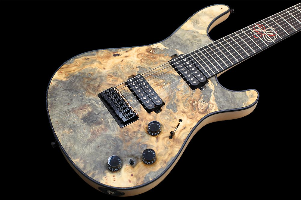 Mayones Regius 8 TA Piezo Buckeye Burl - Master Builder Collection 2012 - Buckeye Burl top, Swamp Ash body wings, Ebony fingerboard