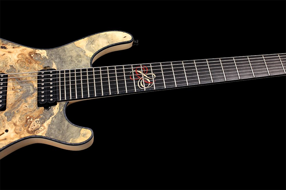 Mayones Regius 8 TA Piezo Buckeye Burl - Master Builder Collection 2012 - Ebony fingerboard