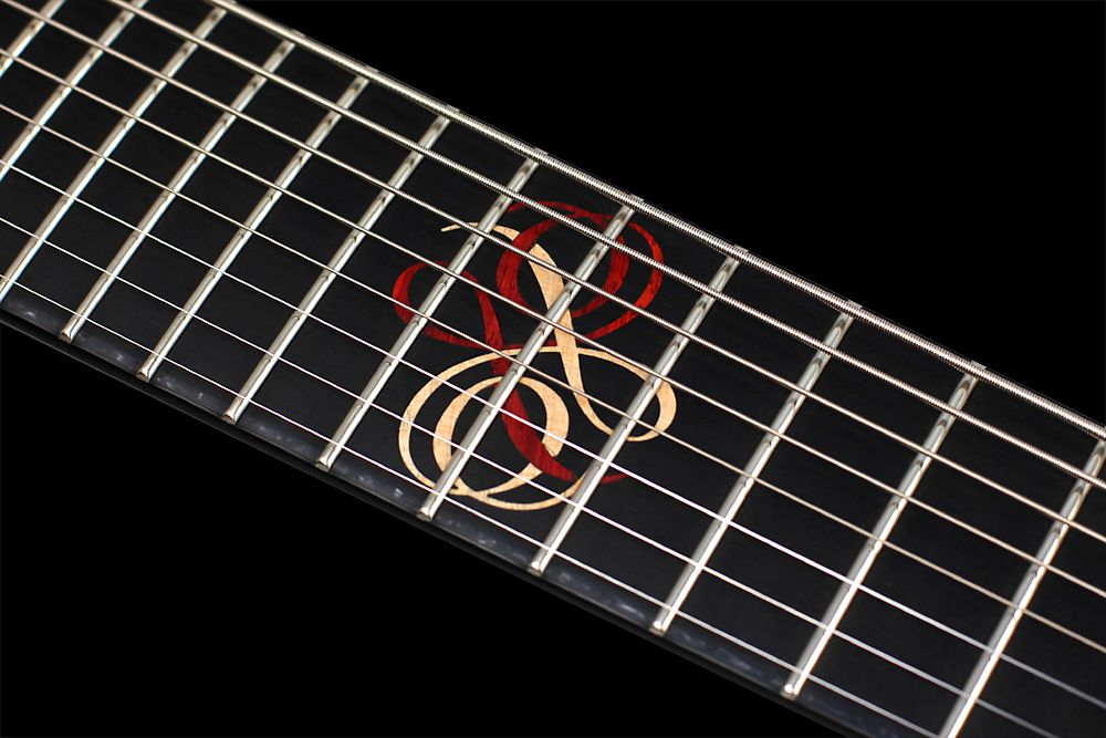 Mayones Regius 8 TA Piezo Buckeye Burl - Master Builder Collection 2012 - Ebony fingerboard - Custom wooden inlay