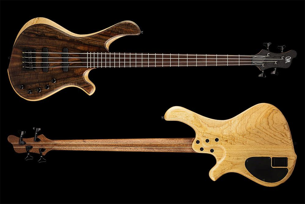 Mayones BE 4 Elite Walnut Claro - Master Builder Collection 2015 - front & back