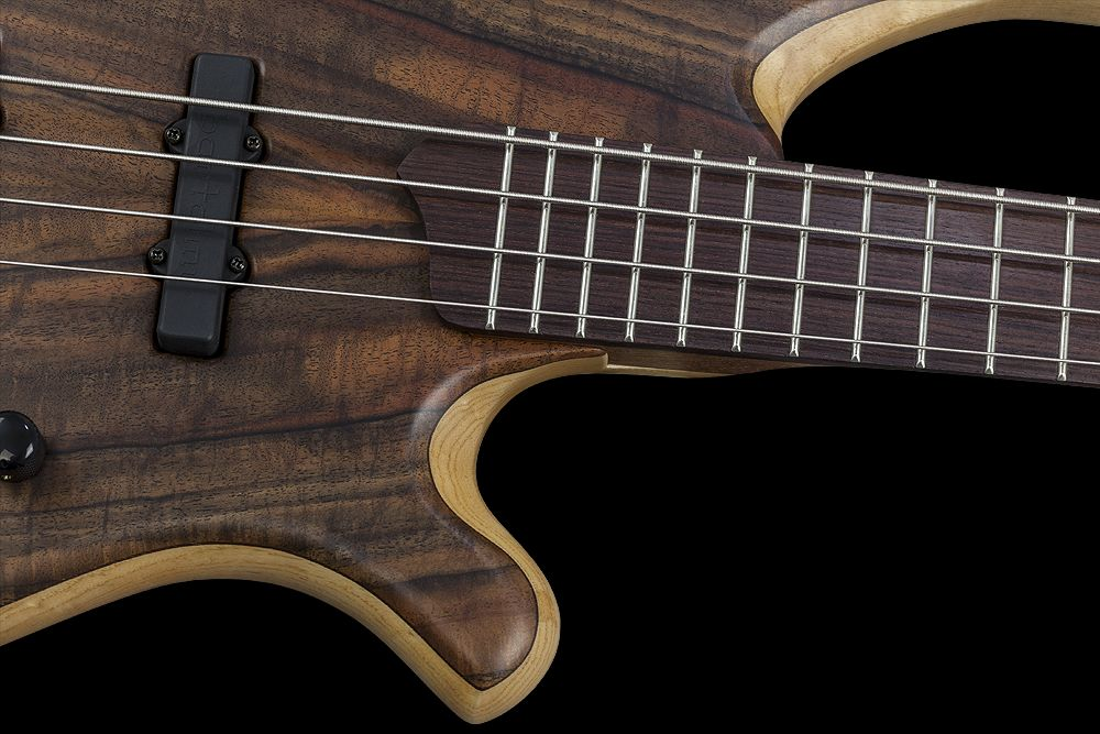 Mayones BE 4 Elite Walnut Claro - Master Builder Collection 2015 - Easy access to the upper frets