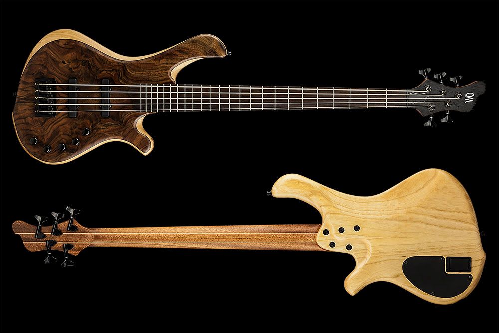 Mayones BE 5 Elite Walnut Claro - Master Builder Collection 2015 - front & back