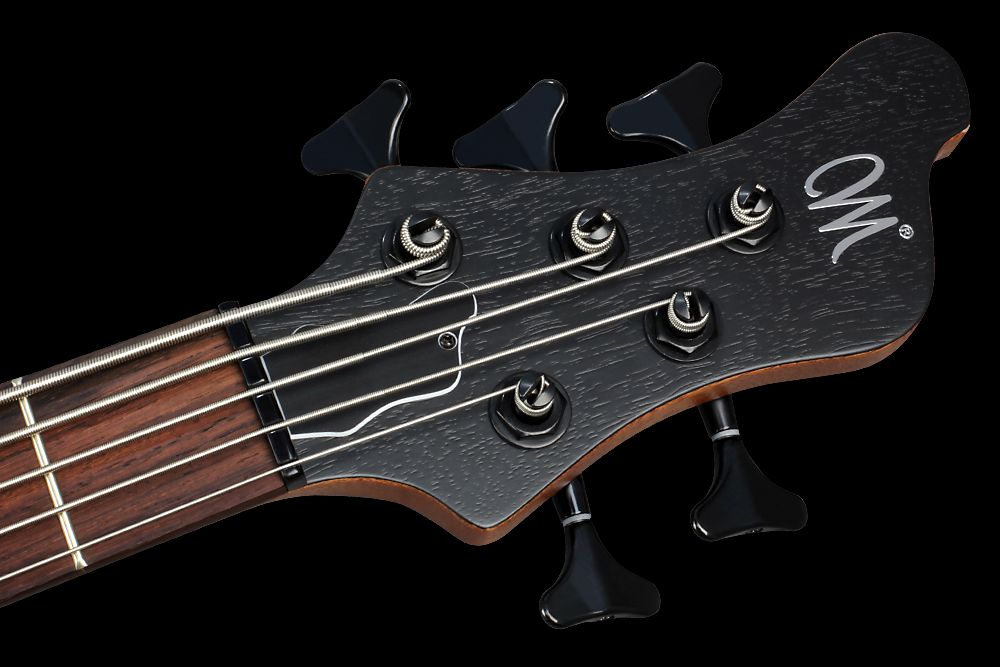 Mayones BE 5 Elite Walnut Claro - Master Builder Collection 2015 - Angled headstock, WSC De Luxe Mini tuners, Graph Tech Black Tusq nut