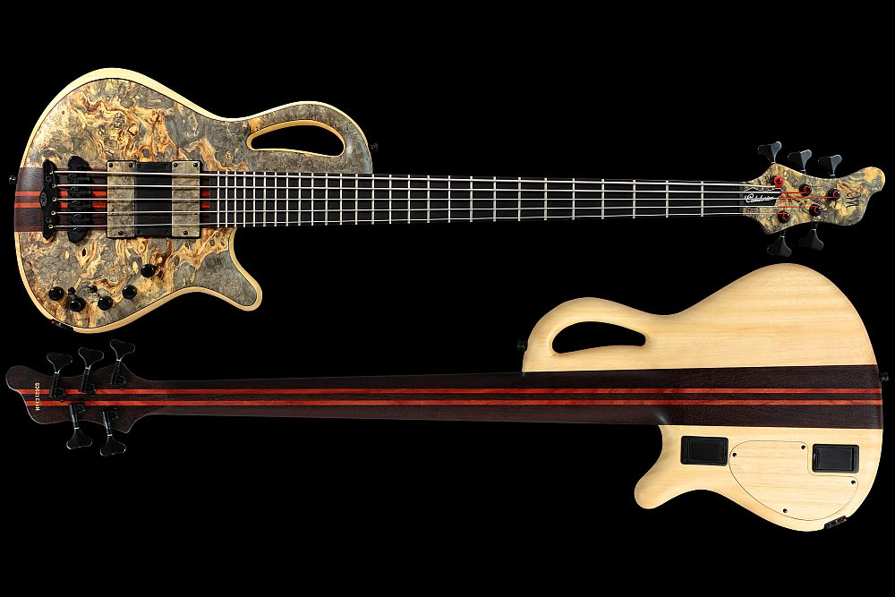 Mayones Caledonius 5 Buckeye Burl - Master Builder Collection 2011 - front & back