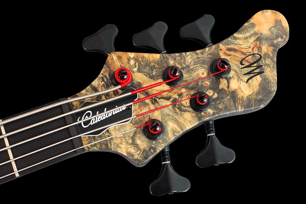 Mayones Caledonius 5 Buckeye Burl - Master Builder Collection 2011 - Ebony nut, Schaller M4 tuners
