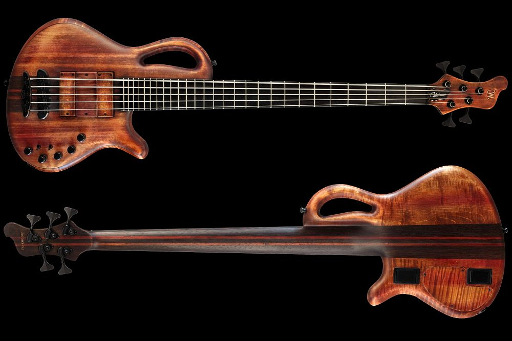 Mayones Caledonius 5 Custom Spruce Antique Brown Oil - Master Builder Collection 2013 - front & back
