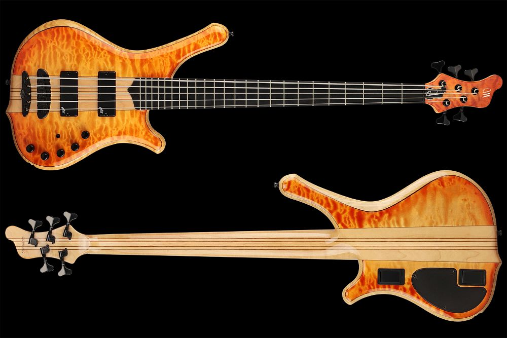 Mayones Comodous 5 Custom Quilted Maple - Master Builder Collection 2014 - front & back