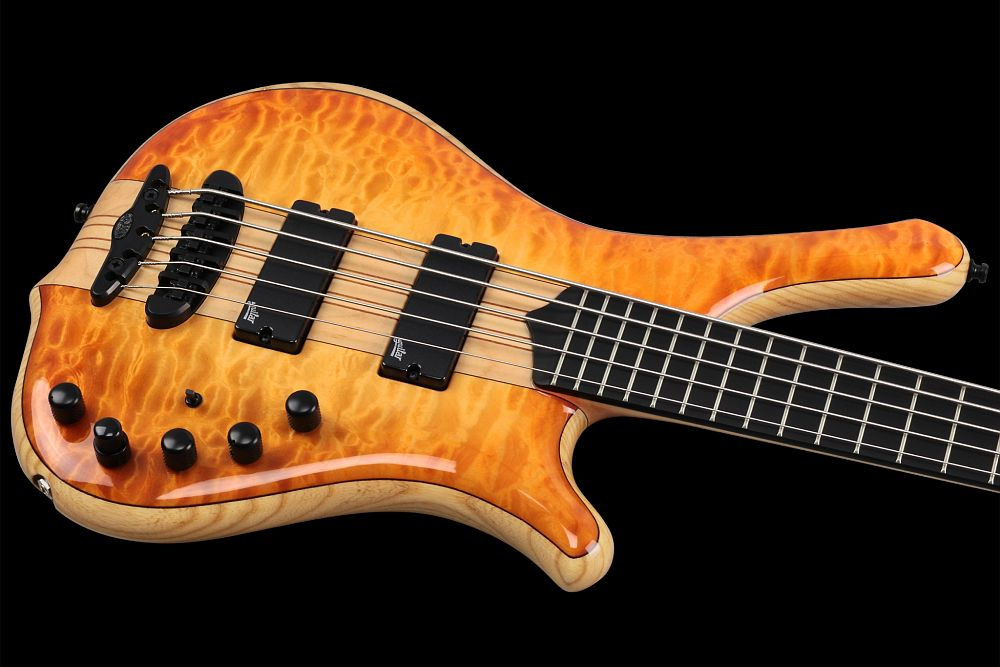 Mayones Comodous 5 Custom Quilted Maple - Master Builder Collection 2014 - slim contoured body