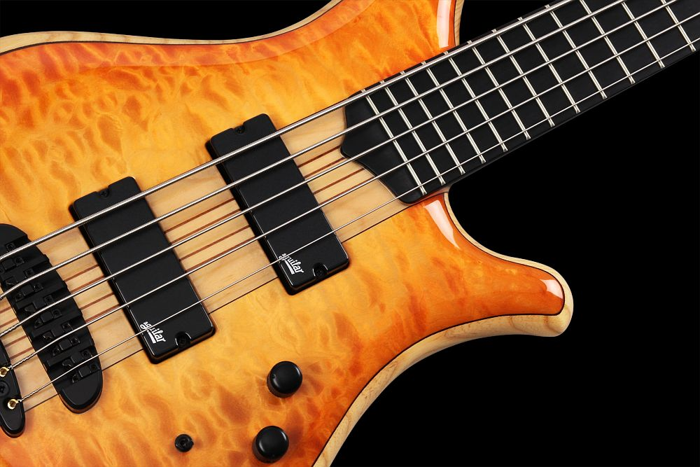 Mayones Comodous 5 Custom Quilted Maple - Master Builder Collection 2014