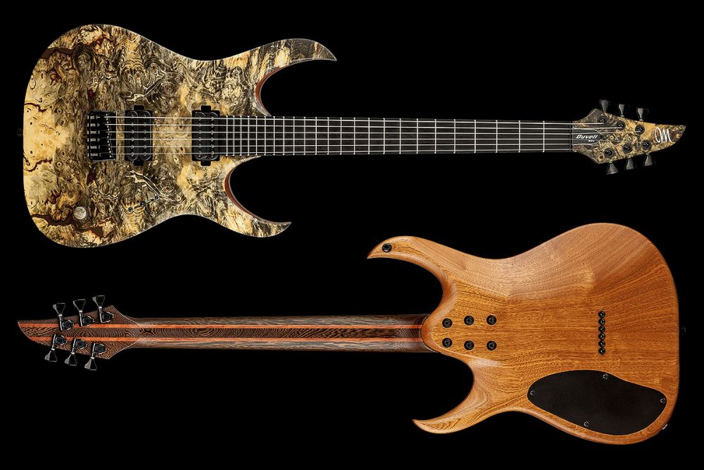 Mayones Duvell 6 Buckeye Burl - Master Builder Collection 2016 - front & back