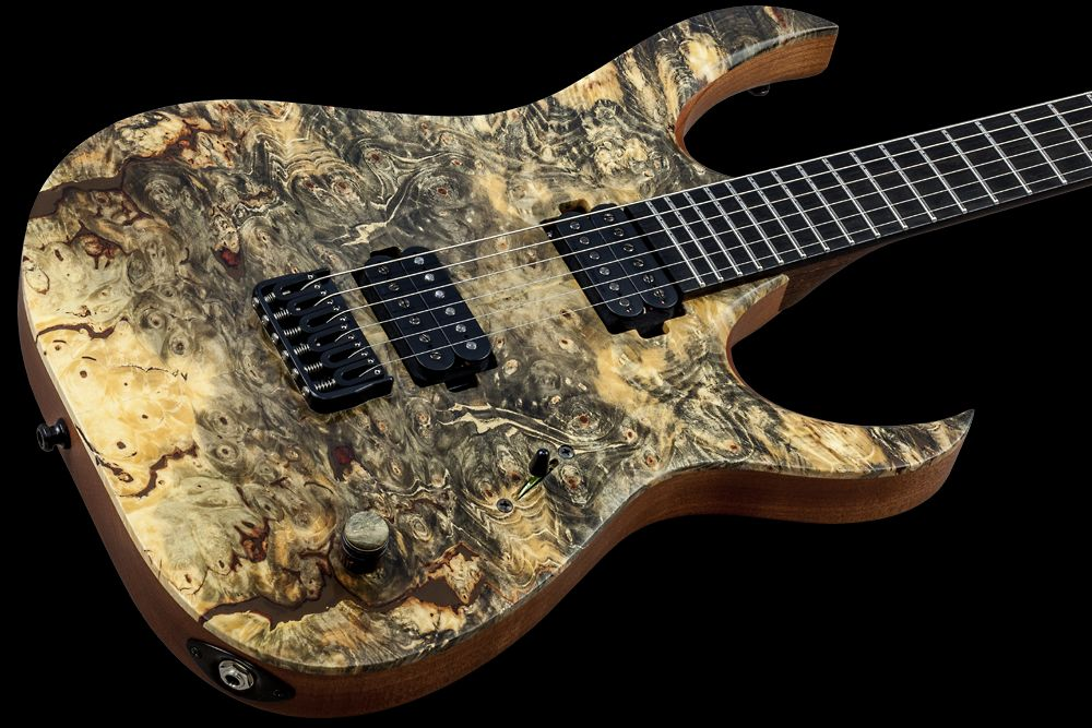 Mayones Duvell 6 Buckeye Burl - Master Builder Collection 2016 - Buckeye Burl top, Mahogany Sapele body back, 5-ply Wenge/Bubinga bolt-on neck, Ebony fingerboard