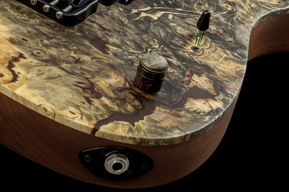 Mayones Duvell 6 Buckeye Burl - Master Builder Collection 2016 - Mayones Custom Shop wooden knob