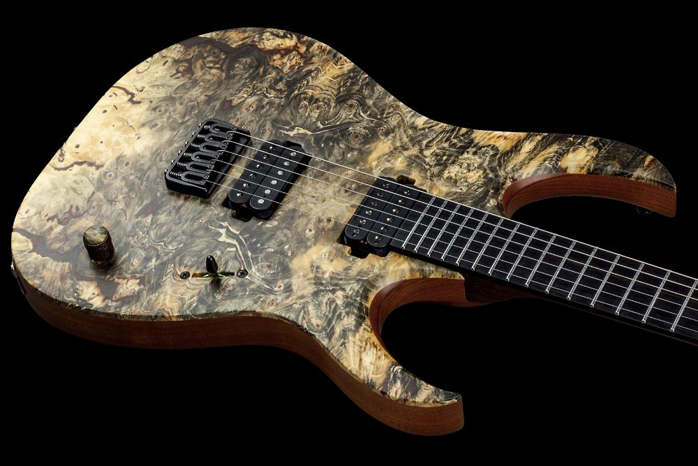 Mayones Duvell 6 Buckeye Burl - Master Builder Collection 2016 - Easy access to the upper frets