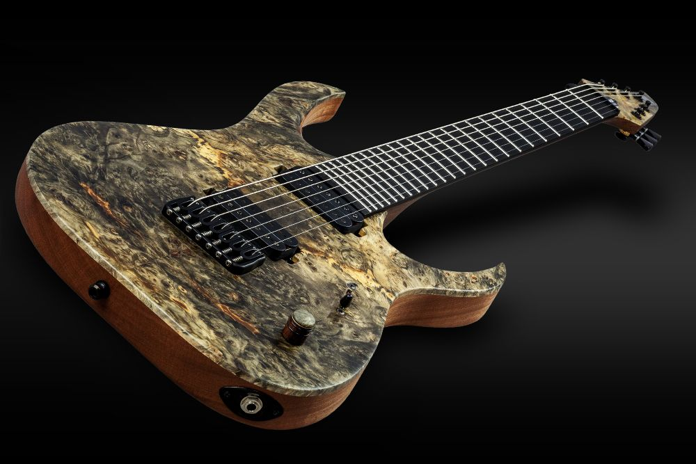 Mayones Duvell 7 Buckeye Burl - Master Builder Collection 2016