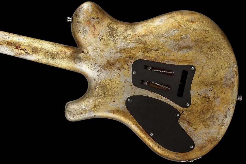 Mayones Legend V22 HH Rusted Custom Shop Bare Knuckle Juggernaut Nickel Brushed cover Misha Mansoor Signature pickups Old Vinyl pickguard