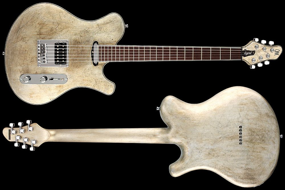 Mayones Legend T Aged Silver - Master Builder Collection 2012 - front & back