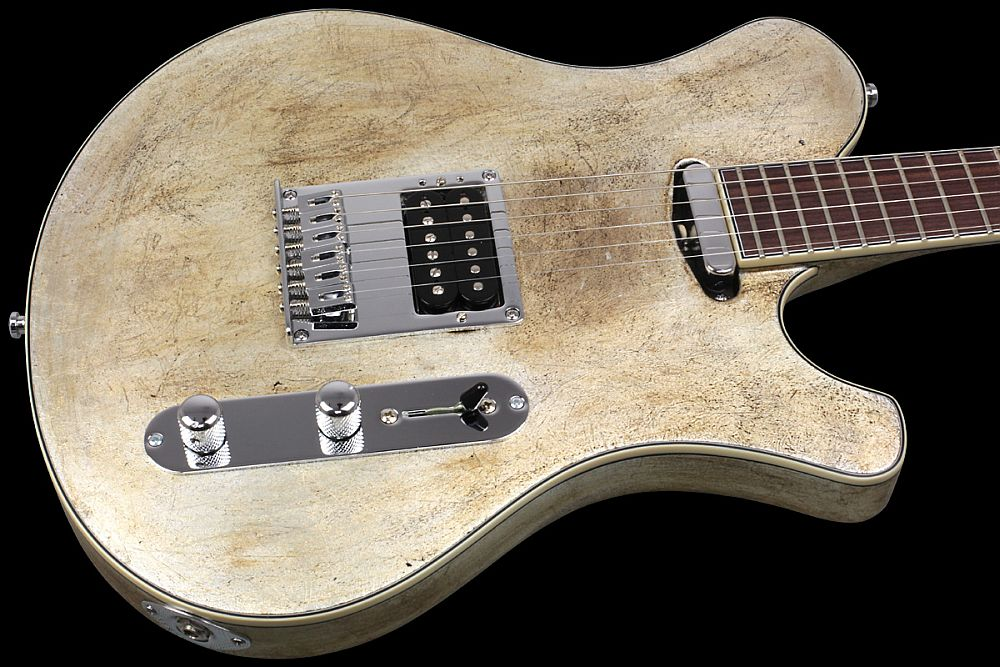 Mayones Legend T Aged Silver - Master Builder Collection 2012 - Maple top, Alder body back, Rosewood fingerboard