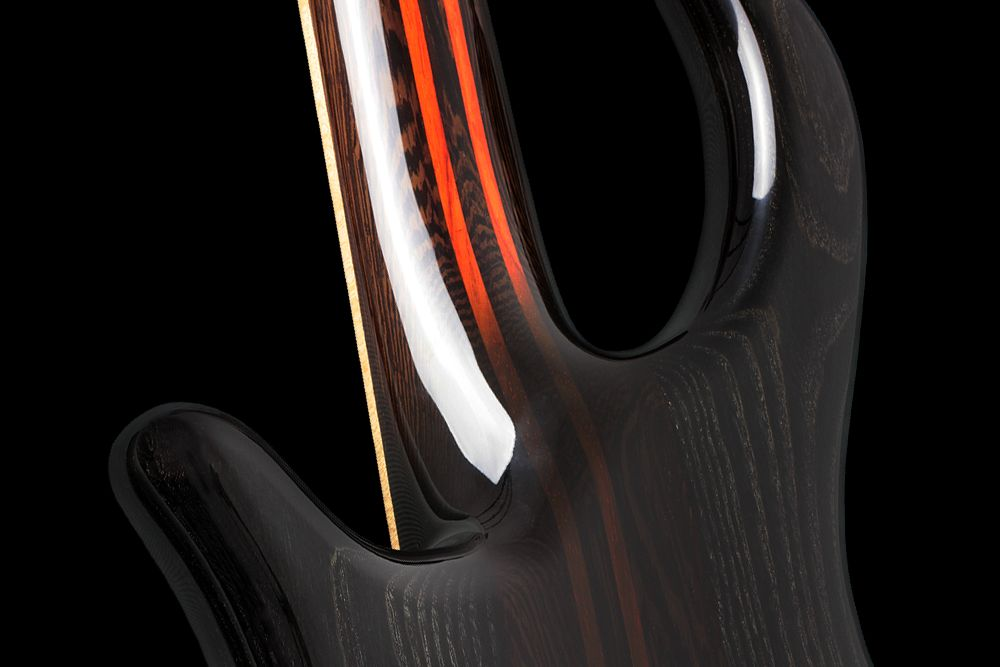 Mayones Patriot 5 Custom Ash - Master Builder Collection 2012 - 5-ply Wenge/Padouk neck-thru-body section