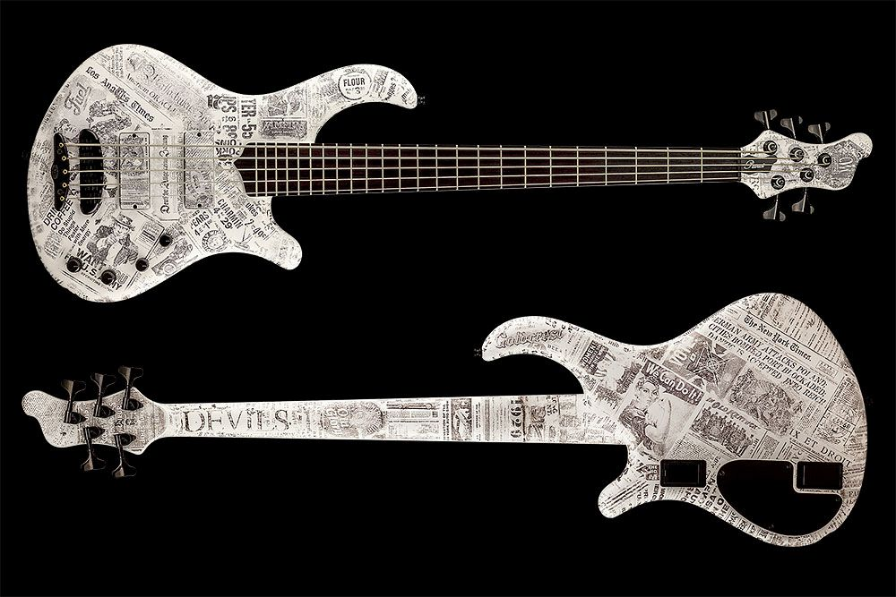 Mayones Patriot 5 Custom Paper Stamp - Master Builder Collection 2016 - front & back