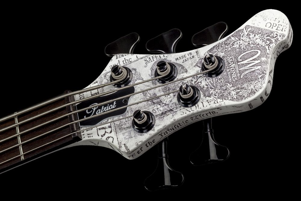 Mayones Patriot 5 Custom Paper Stamp - Master Builder Collection 2016 - Angled headstock, Ebony nut, Schaller M4 tuners
