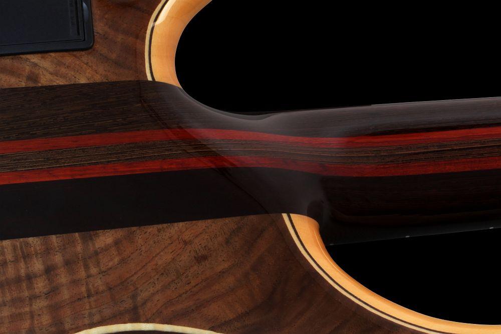 Mayones Patriot 5 Custom Walnut Claro - Master Builder Collection 2013 - 5-ply Wenge/Padouk neck-thru-body section