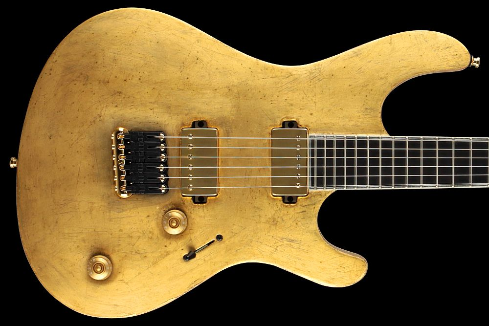 Mayones Regius 6 Aged Gold Satin finish - Master Builder Collection 2011 - Bare Knuckle VHII Set