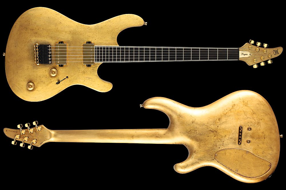 Mayones Regius 6 Aged Gold Satin finish - Master Builder Collection 2011 - front & back