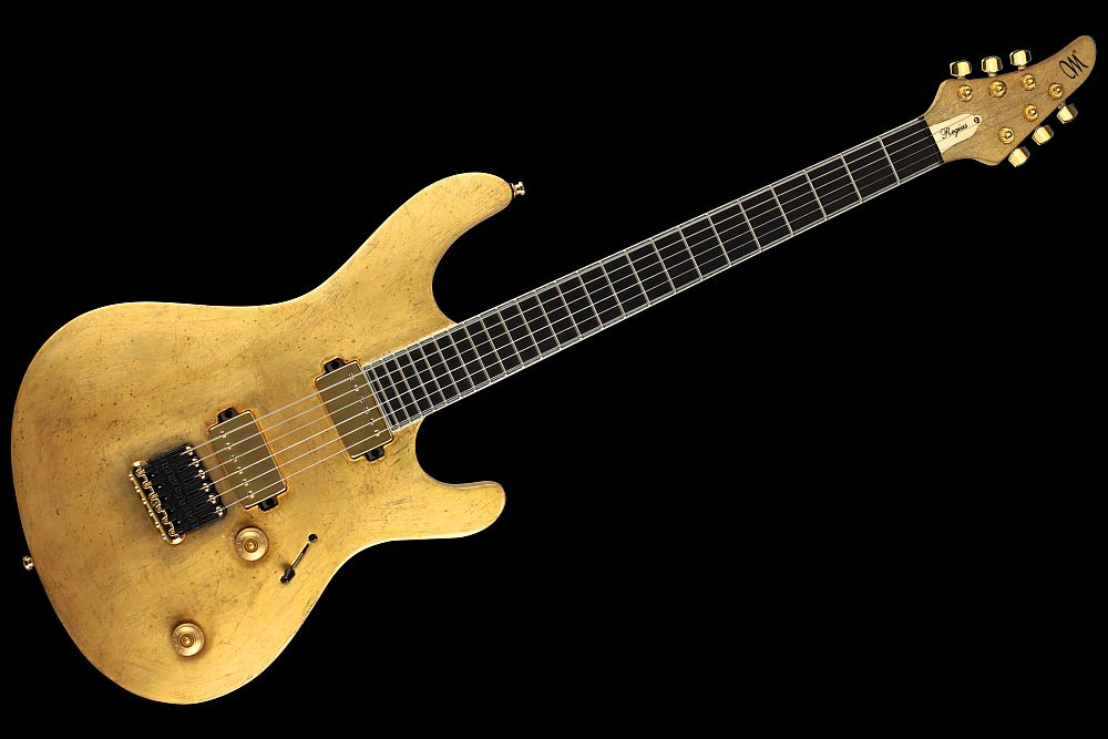 Mayones Regius 6 Aged Gold Satin finish - Master Builder Collection 2011 - front