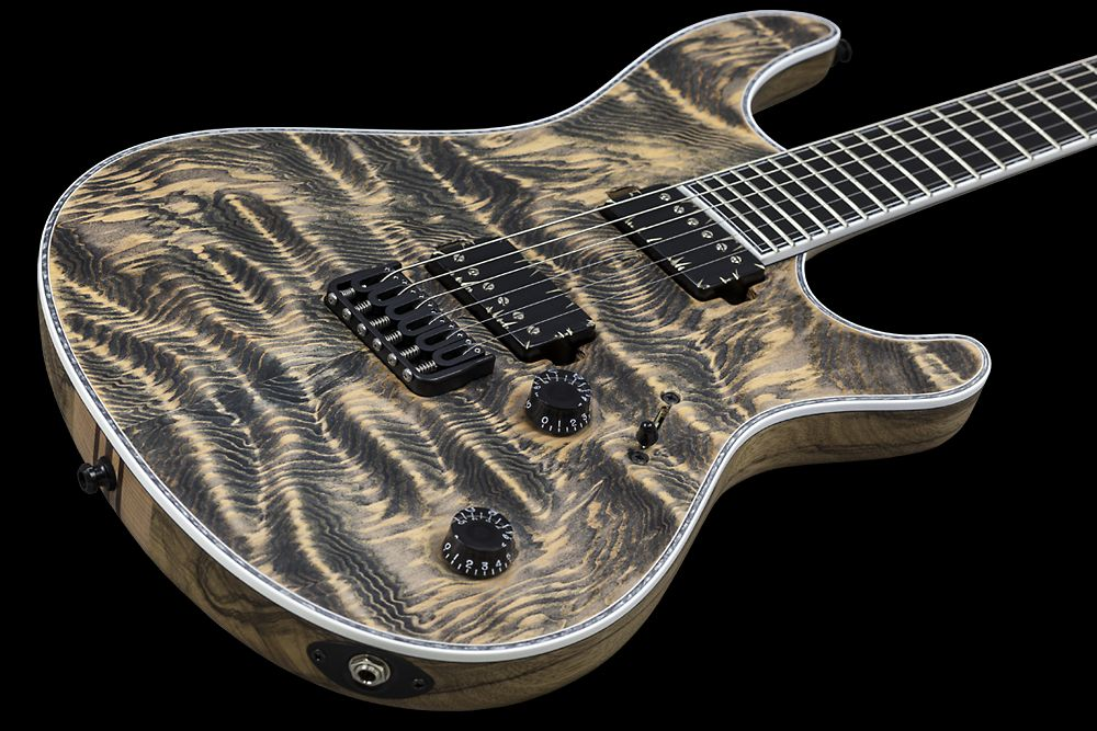 Mayones Regius 6 Douglas Fir - Master Builder Collection 2015 - Douglas Fir top, Black Limba body wings, 11-ply neck section, Ebony fingerboard