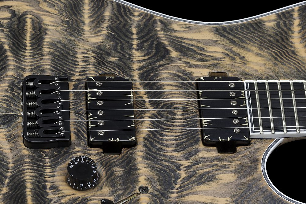 Mayones Regius 6 Douglas Fir - Master Builder Collection 2015 - Bare Knuckle Pickups Painkiller Black Battleworn cover humbuckers - Direct to body mounted pickups