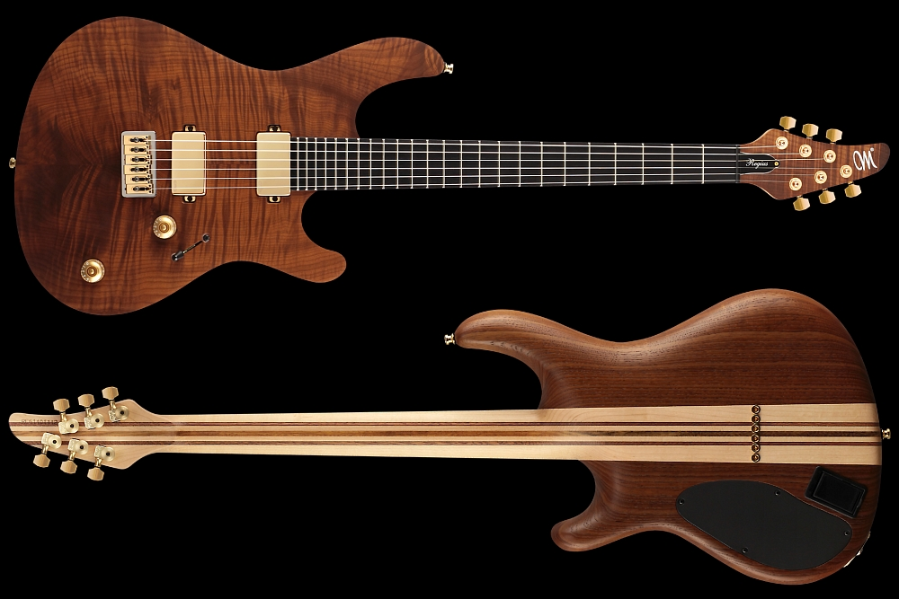Mayones Regius 6 Flamed Maple T.E.W. - Master Builder Collection 2014 - front & back