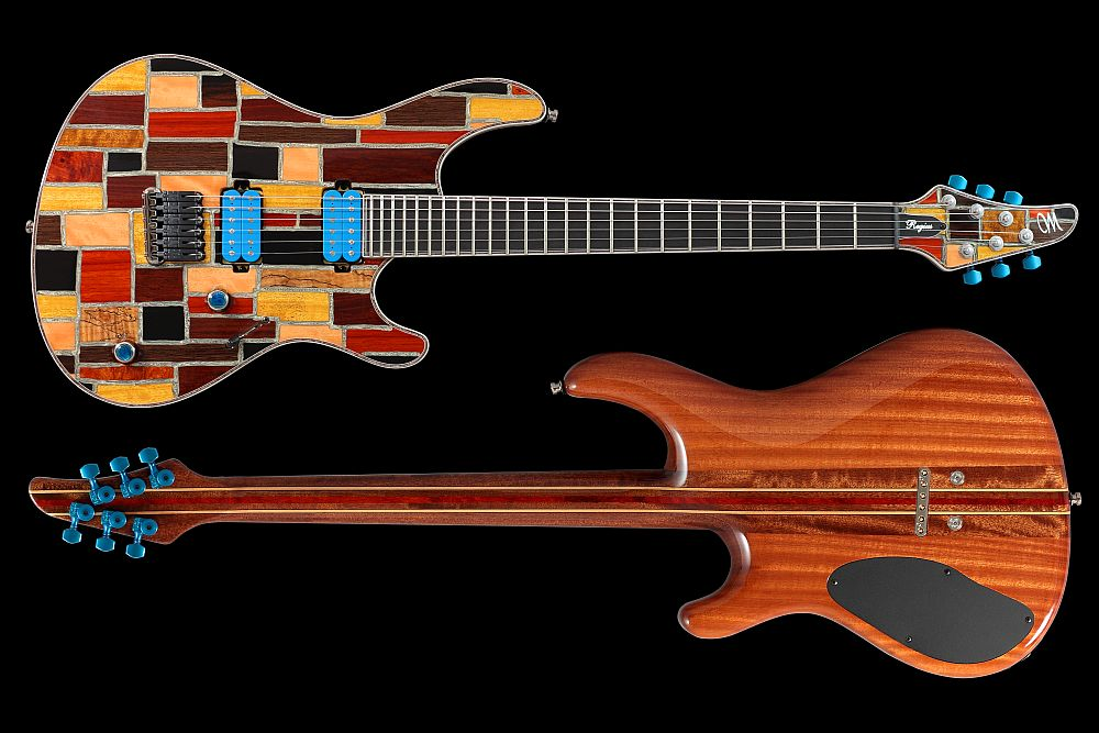 Mayones Regius 6 Mosaic Trans Natural Gloss finish - Master Builder Collection 2011 - front & back