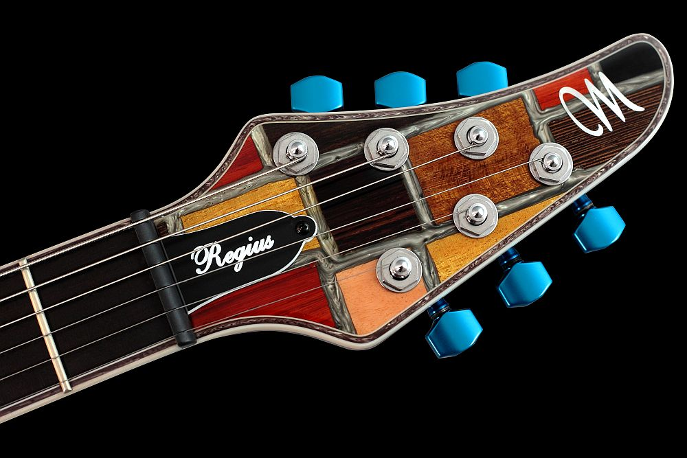 Mayones Regius 6 Mosaic Trans Natural Gloss finish - Master Builder Collection 2011 - head