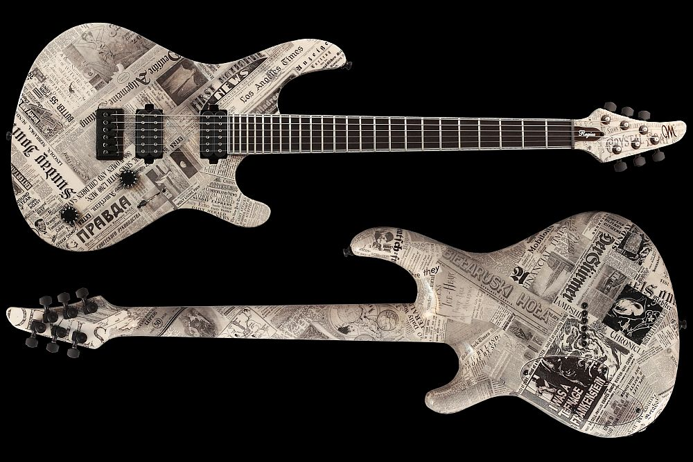 Mayones Regius 6 Paper - Master Builder Collection 2011 - front & back