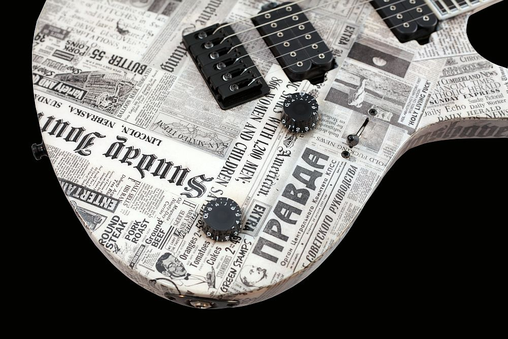 Mayones Regius 6 Paper - Master Builder Collection 2011 - Volume (push-pull) and Tone control, Speed type knobs