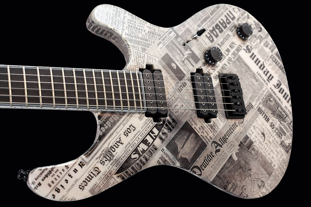 Mayones Regius 6 Paper - Master Builder Collection 2011 - slim contoured body