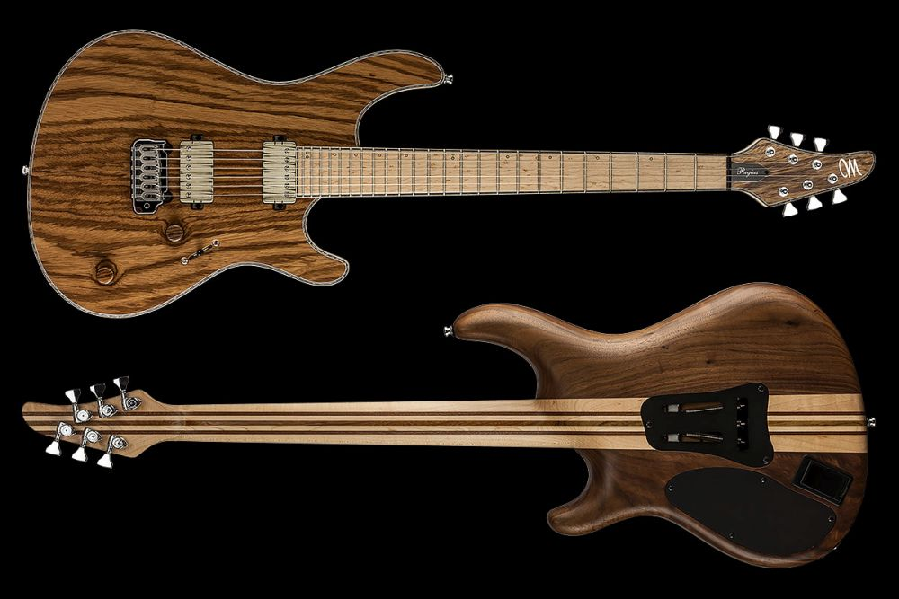 Mayones Regius 6 V24 Zebrawood - Master Builder Collection 2016 - front & back