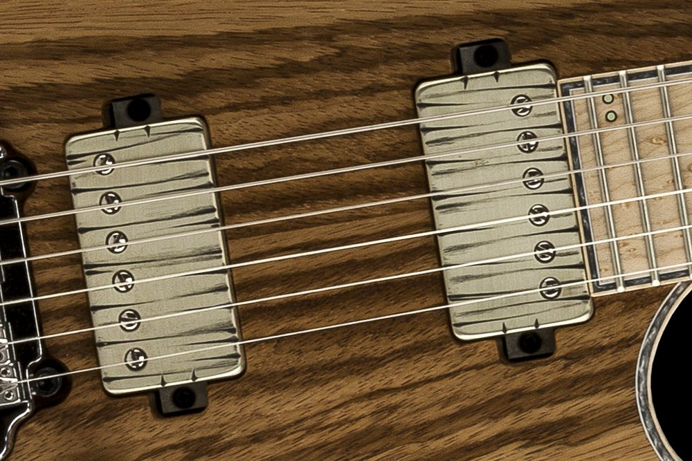 Mayones Regius 6 V24 Zebrawood - Master Builder Collection 2016 - Bare Knuckle The Mule Tyger cover set, direct to body mounted pickups