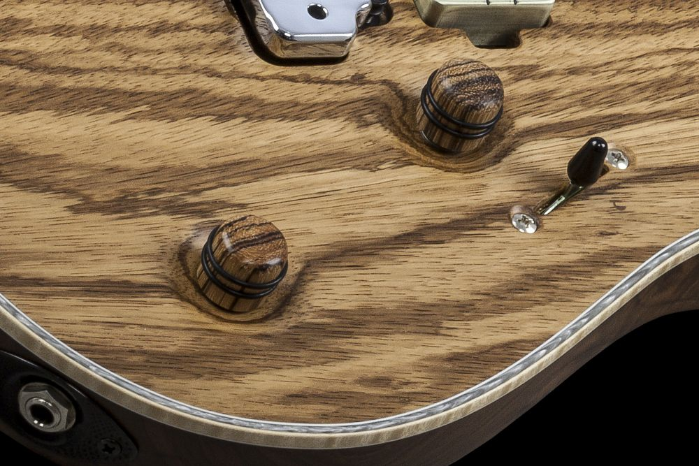 Mayones Regius 6 V24 Zebrawood - Master Builder Collection 2016 - Volume (push-pull) and Tone control, 3-way lever switch, Zebrawood knobs
