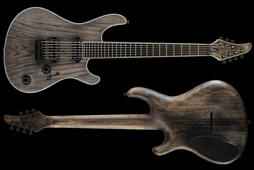 Mayones Regius 7 Antique Black Oil - Master Builder Collection 2013 - front & back