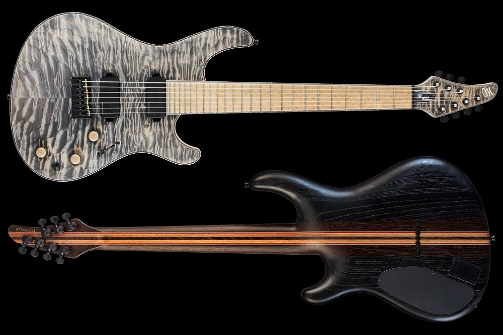 Mayones Regius 7 Cardamom Piezo - Master Builder Collection 2013 - front & back