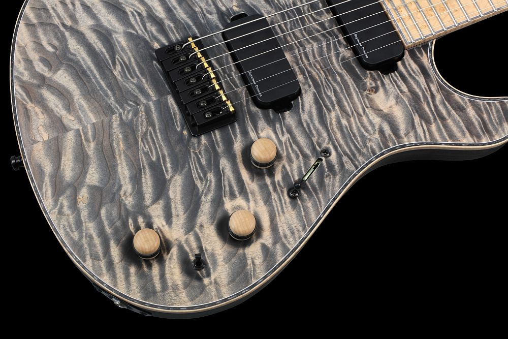 Mayones Regius 7 Cardamom Piezo - Master Builder Collection 2013 - Volume, Piezo Volume, Tone control, 3-way lever switch, mini switch Piezo on/off, wooden knobs
