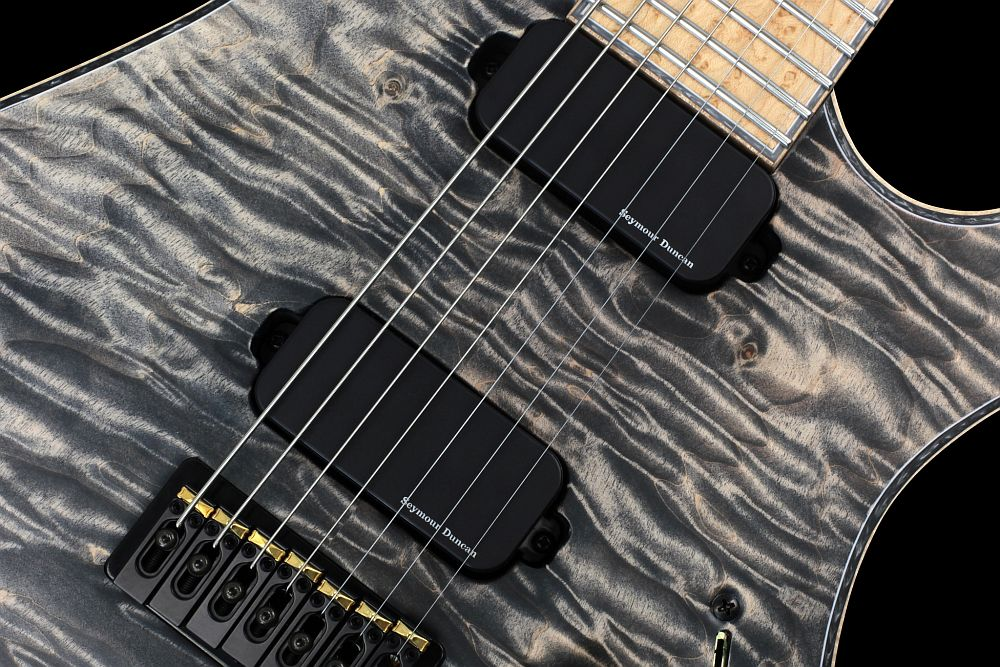 Mayones Regius 7 Cardamom Piezo - Master Builder Collection 2013 - Seymour Duncan Blackouts 7 Set - Direct to body mounted pickups