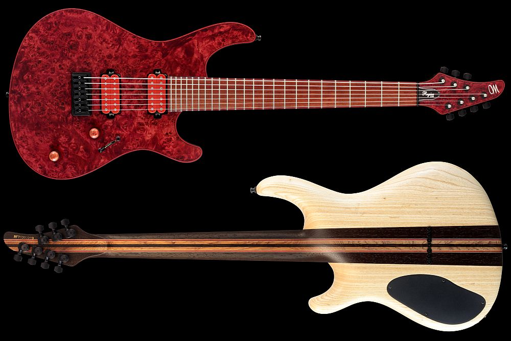 Mayones Regius 7 Chilli - Master Builder Collection 2012 - front & back